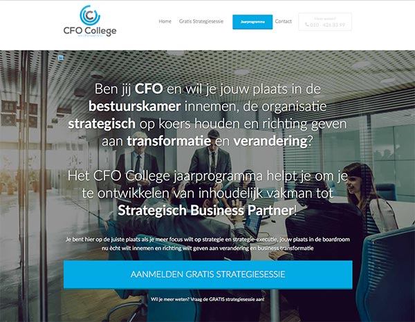 CFO College Strategisch Business Partner jaarprogramma