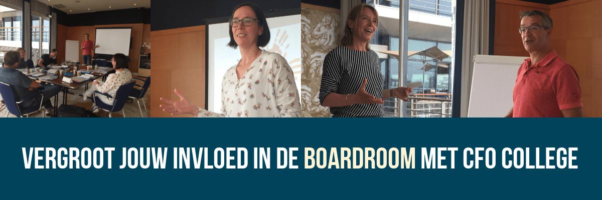 Vergroot jouw invloed in de boardroom met CFO College